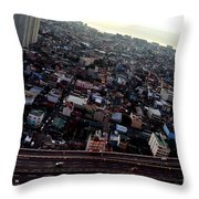 Birds Eye View Of The Pasay City Throw Pillow