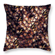 Birds In Copper Throw Pillow