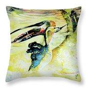 Birds Love Dance Throw Pillow