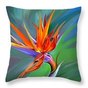 Birds Of Paradise 1 Throw Pillow