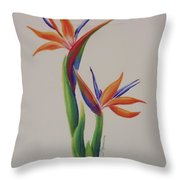 Birds Of Paradise -in Love Throw Pillow