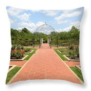 Birmingham Rose Garden Throw Pillow