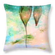 Birth Of A Triffid Throw Pillow