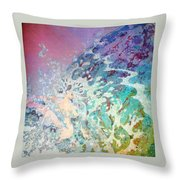 Birth Of Aphrodite From The Sea Foam Throw Pillow
