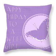 Birthday Girl Greeting Card - Mourning Cloak Butterfly Throw Pillow