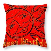 Birthday One Throw Pillow