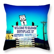 Birthplace Of Route 66 Throw Pillow