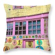 Colorful Building Bisbee Az Throw Pillow