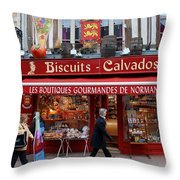 Biscuits And Calvados Throw Pillow