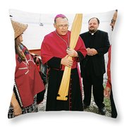 Bishop Arrives Two Throw Pillow