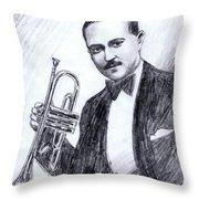 Bix Beiderbecke 1929 Throw Pillow by Mel Thompson