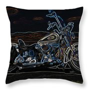 Black And Blue Throw Pillow by Eric Dee