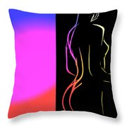 Black And Colors Throw Pillow