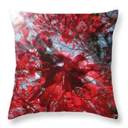 Black And Red Crescendo Throw Pillow