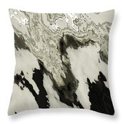 Black And White Abstract I Throw Pillow