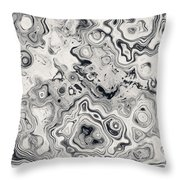 Black And White Abstract II Throw Pillow