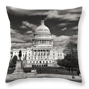 Black And White Capitol Throw Pillow
