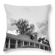 Black And White Delaware Casino Throw Pillow