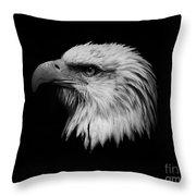 Black And White Eagle Throw Pillow