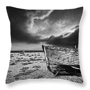 Black And White In Dungeness Throw Pillow
