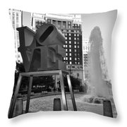 Black And White Love Throw Pillow
