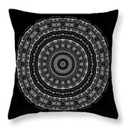 Black And White Mandala No. 3 Throw Pillow