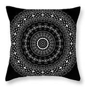 Black And White Mandala No. 4 Throw Pillow