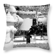 Black And White Mechanics Throw Pillow