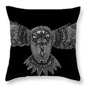 Black And White Owl Throw Pillow