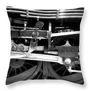Black And White Steam Engine - Greeting Card Throw Pillow