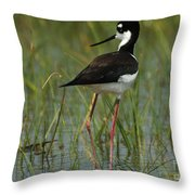 Black And White Stilt Throw Pillow