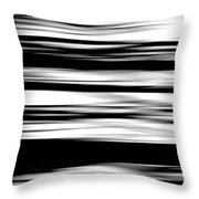 Black And White Striped Wave Pattern Throw Pillow