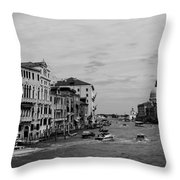 Black And White Venice 3 Throw Pillow
