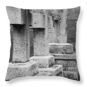Black And Whtie Corsses Throw Pillow