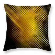 Black And Yellow Abstract II Throw Pillow