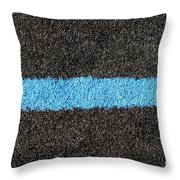 Black Blue Lawn Throw Pillow
