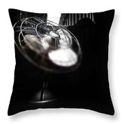 Black Breeze Throw Pillow
