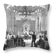 Black Convention, 1876 Throw Pillow