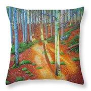 Black Forest Sunset Throw Pillow