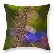 Black Foxtail Throw Pillow