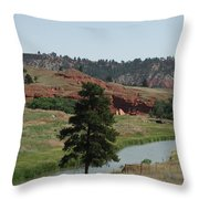 Black Hills Landscape Throw Pillow