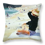 Black Jumper Throw Pillow by Lucy Willis