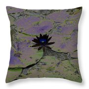 Black Lili Throw Pillow