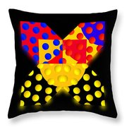Black Mark Throw Pillow