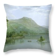 Black Mountain From The Harbor Islands - Lake George Throw Pillow