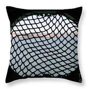Black Net Throw Pillow