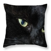 Black Night Throw Pillow