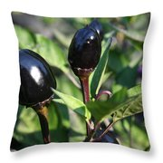Black Olive Pepper Throw Pillow