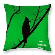 Black  On Green Throw Pillow