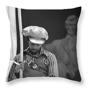 Black Panthers At The Lincoln Memorial - 1970 Throw Pillow